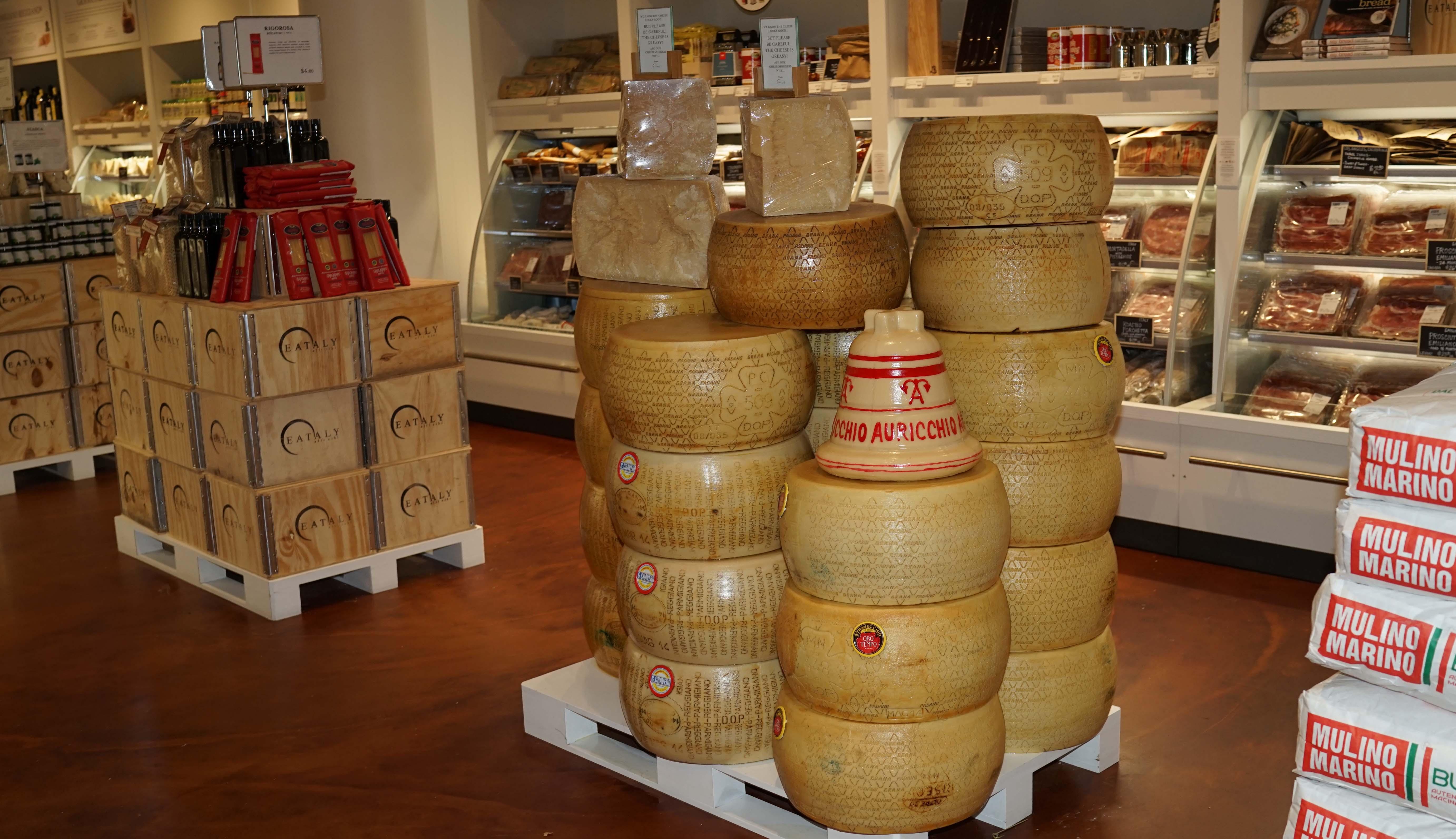 Eataly cheese wheel