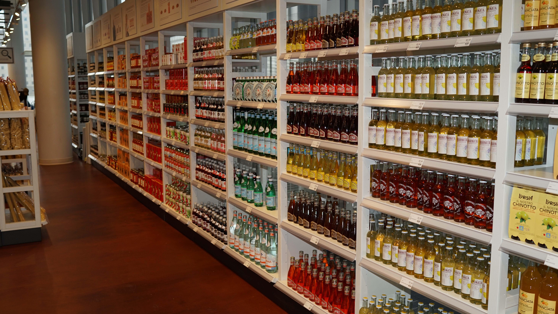 Eataly water shelf