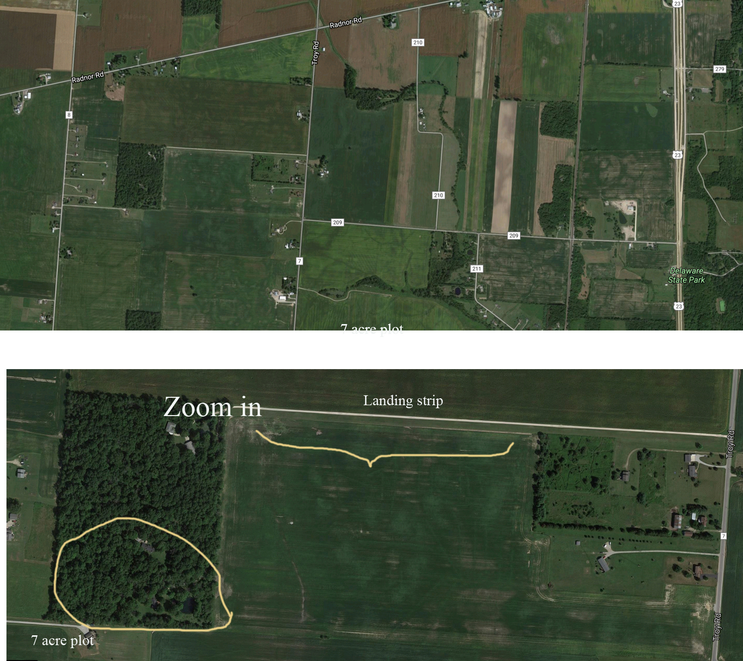 Troutman road plot with airstrip