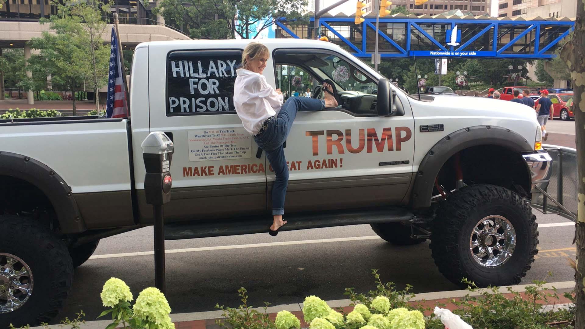 Trump pickup truck