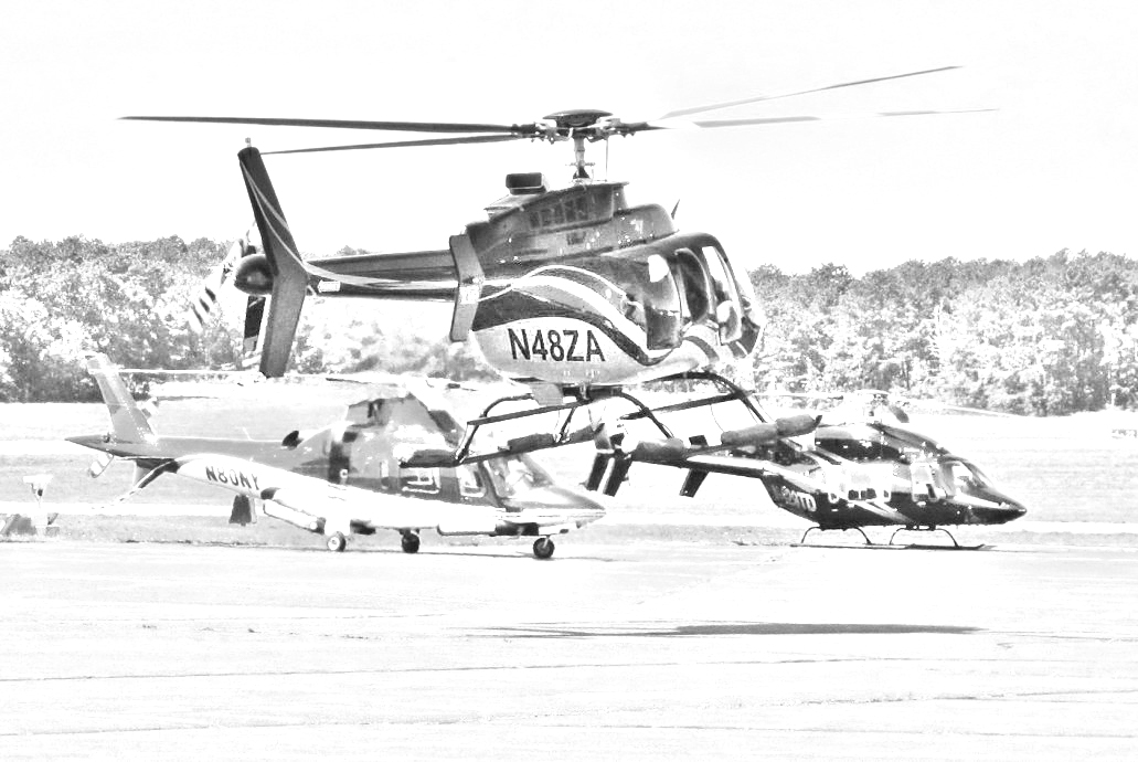 Helicopters in The Hamptons